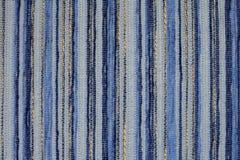 Priorità bassa strutturata del tessuto blu Fotografie Stock