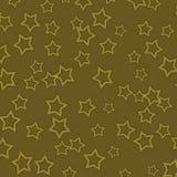Priorità bassa strutturata dell'oro scuro con le stelle dell'oro Fotografia Stock