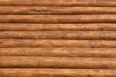 Priorità bassa strutturata della parete dei fasci di legno Immagine Stock Libera da Diritti