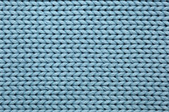 Priorità bassa strutturata lavorata a maglia blu Fotografia Stock Libera da Diritti