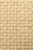 Priorità bassa strutturata tessuta gialla astratta del thatch Fotografie Stock Libere da Diritti