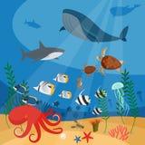 Priorità bassa subacquea di vettore royalty illustrazione gratis