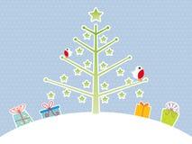 Priorità bassa sveglia dell'albero di Natale Fotografie Stock