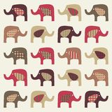 Priorità bassa sveglia variopinta degli elefanti Fotografia Stock