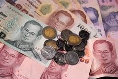 Priorità bassa tailandese dei soldi fotografia stock