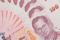 Priorità bassa tailandese dei soldi fotografia stock libera da diritti
