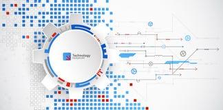 Priorità bassa tecnologica astratta Modello quadrato della struttura illustrazione di stock