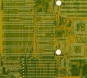 Priorità bassa tecnologica di verde del circuito alta Immagini Stock