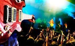 Priorità bassa in tensione di musica Fotografie Stock