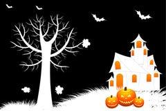 Priorità bassa terribile di Halloween Fotografie Stock Libere da Diritti