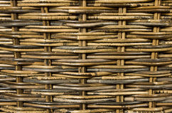 Priorità bassa tessuta del rattan Fotografie Stock