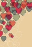 Priorità bassa trasparente del cuore Fotografie Stock