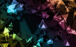 Priorità bassa - triangolo Fotografia Stock