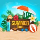 Priorità bassa tropicale di estate Fotografia Stock