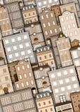 Priorità bassa urbana della costruzione Fotografie Stock Libere da Diritti