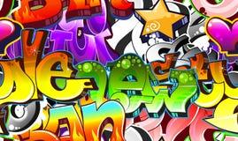 Priorità bassa urbana di arte dei graffiti Immagine Stock Libera da Diritti