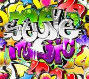 Priorità bassa urbana di arte dei graffiti Immagini Stock Libere da Diritti