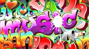 Priorità bassa urbana di arte dei graffiti Immagini Stock