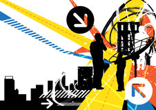 Priorità bassa urbana di comunicazione Immagine Stock Libera da Diritti