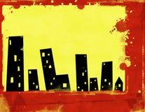 Priorità bassa urbana di Grunge royalty illustrazione gratis