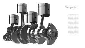 Priorità bassa V8 del motore Immagine Stock Libera da Diritti