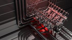 Priorità bassa V8 del motore Immagini Stock Libere da Diritti