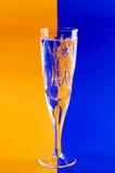 Priorità bassa variegata whis di vetro della bevanda Fotografie Stock