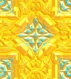 Priorità bassa variopinta Arte moderna di Digital del turchese e dell'oro illustrazione di stock