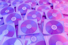 Priorità bassa variopinta dei dischi compatti Fotografia Stock