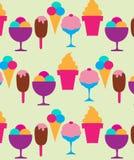 Priorità bassa variopinta dei gelati differenti Fotografie Stock Libere da Diritti