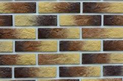 Priorità bassa variopinta del muro di mattoni Fotografia Stock