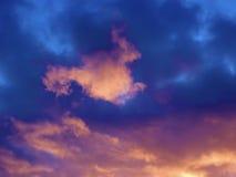 Priorità bassa variopinta della nube Fotografie Stock Libere da Diritti