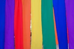 Priorità bassa variopinta della tessile Immagini Stock Libere da Diritti