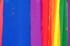 Priorità bassa variopinta della tessile Fotografia Stock Libera da Diritti
