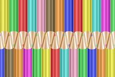 Priorità bassa variopinta delle matite Immagine Stock