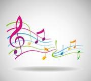 Priorità bassa variopinta di musica. Fotografie Stock