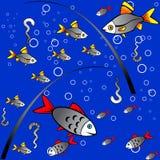 Priorità bassa variopinta senza giunte di pesca royalty illustrazione gratis
