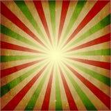 Priorità bassa verde afflitta di burst della luce rossa Fotografia Stock Libera da Diritti