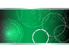 Priorità bassa verde alta tecnologia astratta Fotografie Stock Libere da Diritti