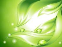 Priorità bassa verde astratta con i fogli royalty illustrazione gratis