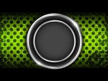Priorità bassa verde astratta del metallo Immagine Stock