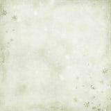 Priorità bassa verde con i fiocchi di neve Fotografia Stock Libera da Diritti
