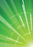 Priorità bassa verde con i raggi Immagine Stock