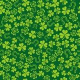 Priorità bassa verde con l'acetosella Fotografie Stock