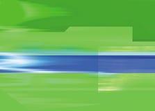 Priorità bassa verde con la barra inversa blu Fotografia Stock Libera da Diritti