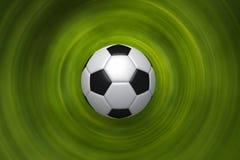 Priorità bassa verde con la sfera di calcio rappresentazione 3d Fotografia Stock