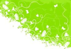 Priorità bassa verde decorata Royalty Illustrazione gratis