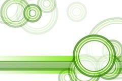 Priorità bassa verde del bordo del cerchio Immagini Stock Libere da Diritti