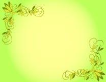 Priorità bassa verde del fiore illustrazione di stock