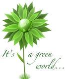 Priorità bassa verde del globo illustrazione di stock